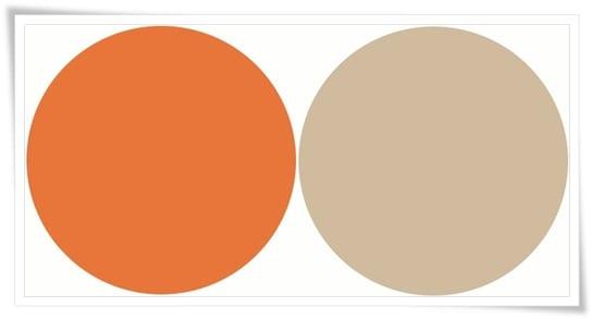 Naranja mikado y beige