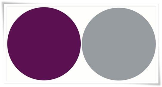 Púrpura y gris plomado