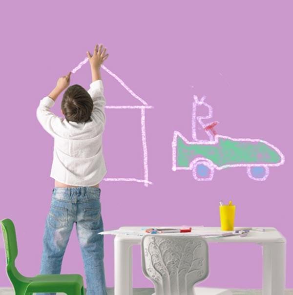 Pintura pizarra para cuartos infantiles