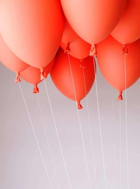 banco sofá flotante globos decoracion
