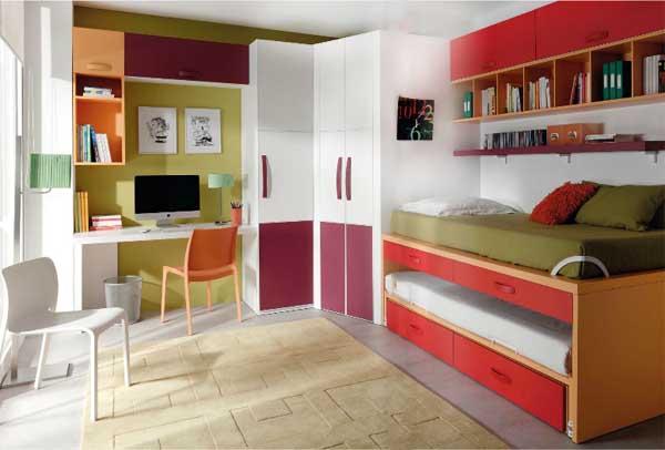 Habitaciones juveniles jjp soluciones para ambientes peque os - Soluciones para dormitorios pequenos ...