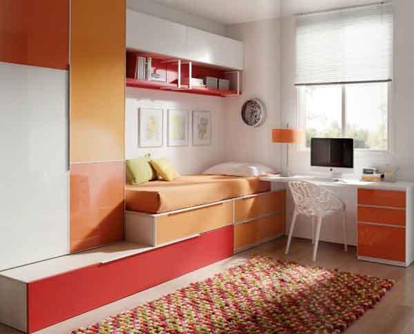 Habitaciones juveniles jjp soluciones para ambientes peque os - Aprovechar espacio habitacion pequena ...