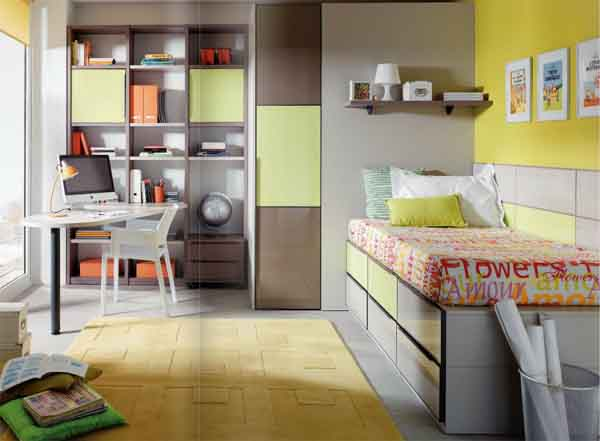 Habitaciones juveniles: como ganar espacio.