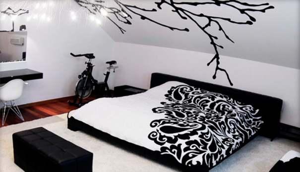 negro  en decoración