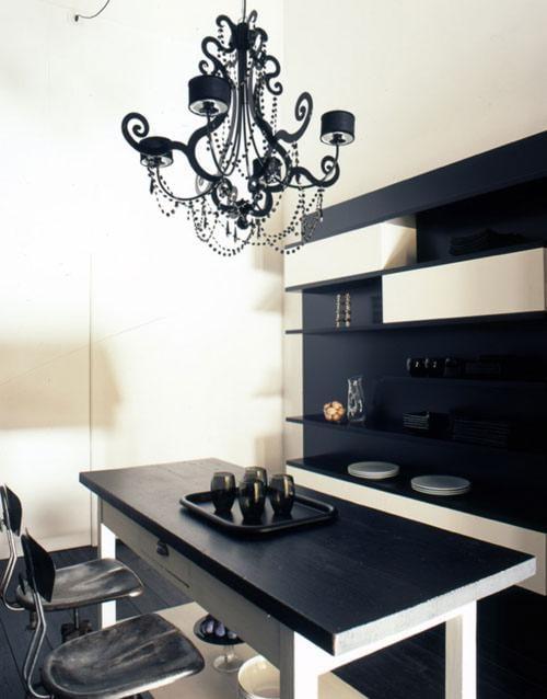 negro en la decoración