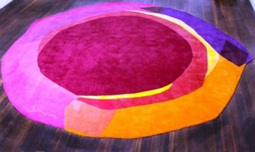 alfombras de colores diseño contemporaneo
