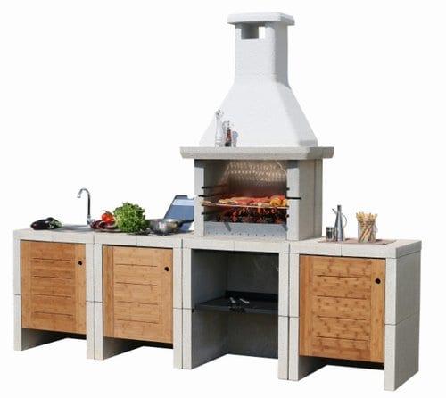 cocina y barbacoa al aire libre