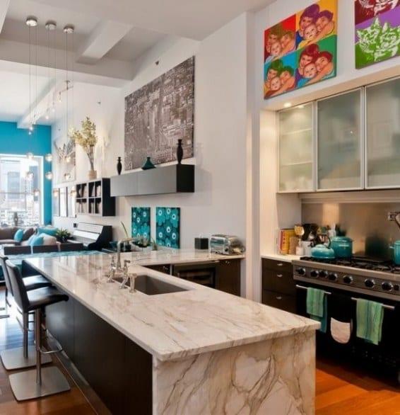 Look Colorido Y Arte Pop Para Un Apartamento Neoyorkino