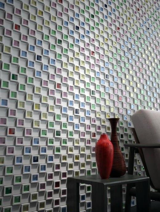 revestimientos pared 3d cube dent