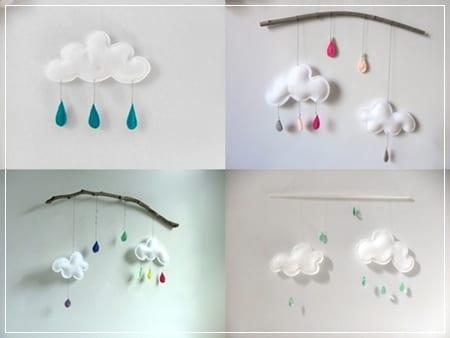 Móvil de nubes