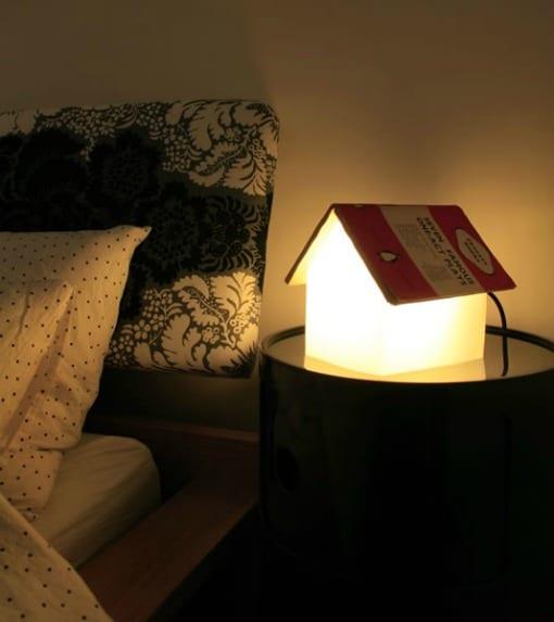lampara original mesita de noche