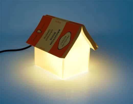 lampara original mesa de noche