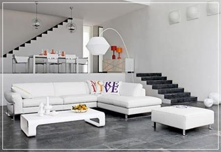 Decoracin minimalista aliada de los espacios pequeos