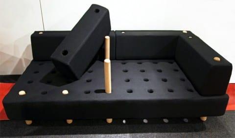 sofa negro funcional minimalista