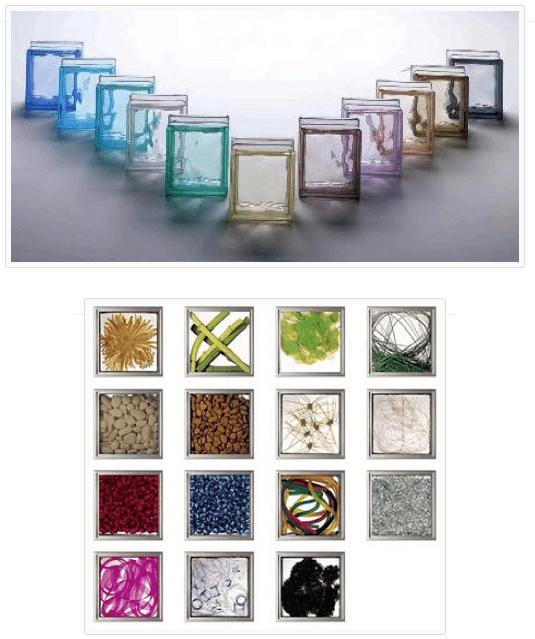 uso de ladrillos de cristal