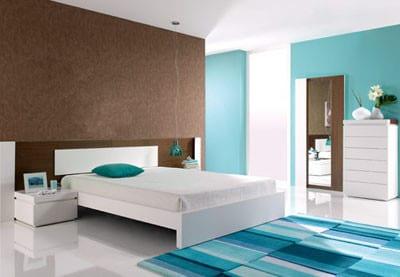 azul en el dormitorio