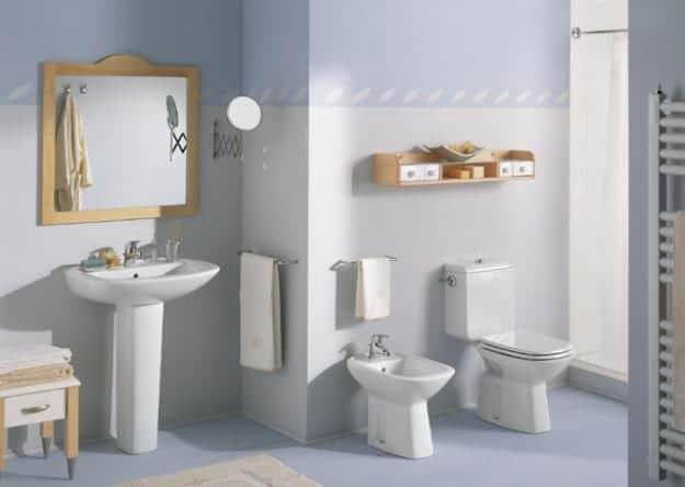 Colores destacados para baños