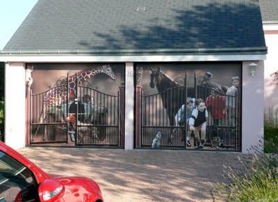 Elegir la puerta del garaje for Garajes originales