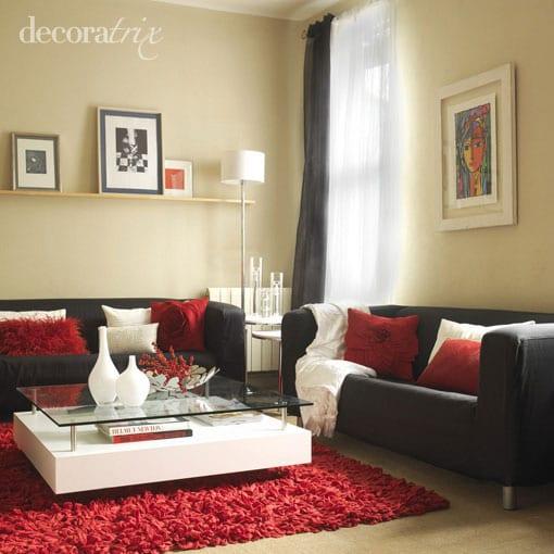 Como decorar con un sof negro - Salones con sofa negro ...