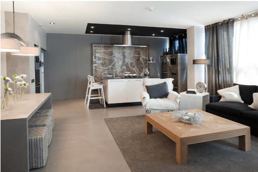 El gris en la decoraci n de la casa for Cortinas para paredes grises