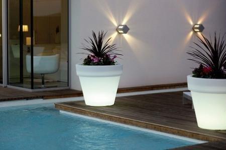 Decoraci n de la piscina for Luces exterior ikea
