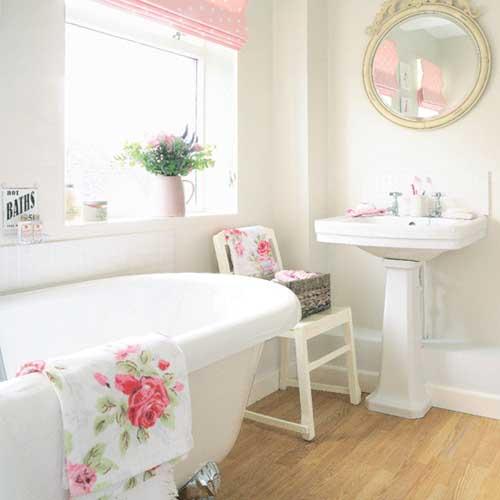baño estilo femenino