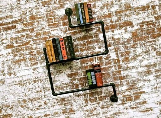 librerias modernas diseño estilo industrial