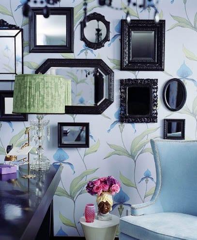 Otra forma de decorar las paredes - Paredes con espejos ...