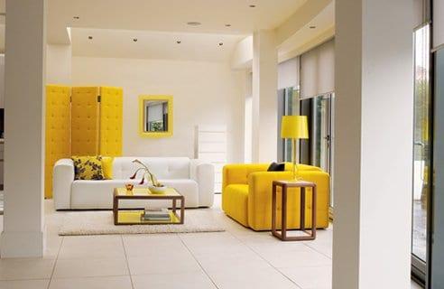 casa en amarillo