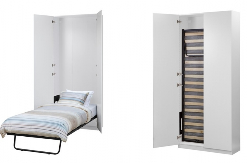 Ideas de camas que se esconden en el techo pared o dentro for Cama mueble ikea