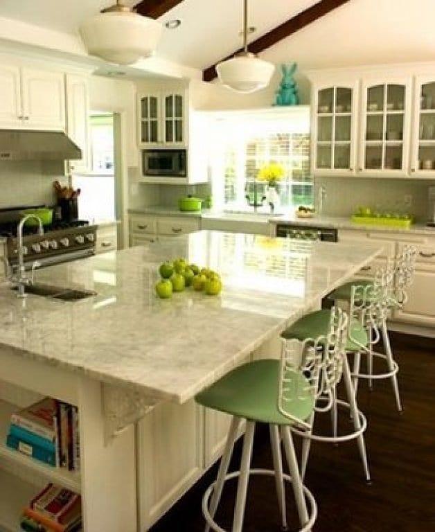 Colocar una isla en una cocina pequeña