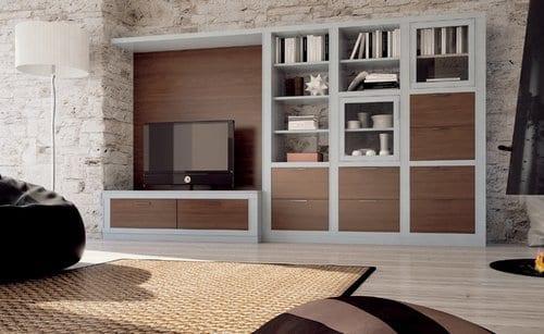 Amueblar las paredes del living para ahorrar espacios