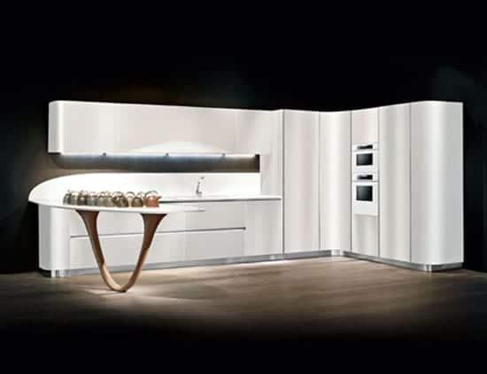 Mobiliario de cocina: muebles curvos