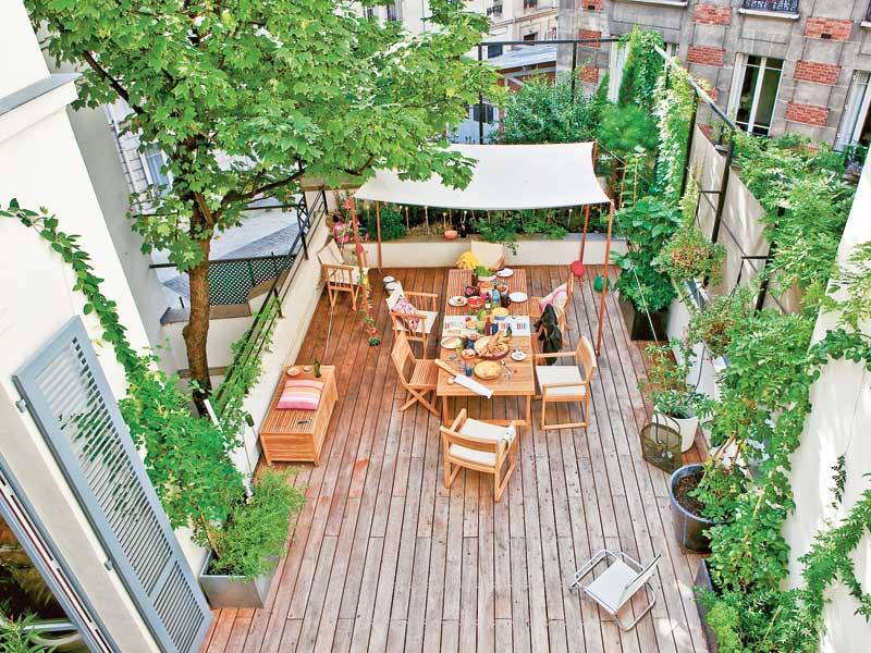 Renovar la decoraci n de la terraza - Como decorar una terraza grande ...