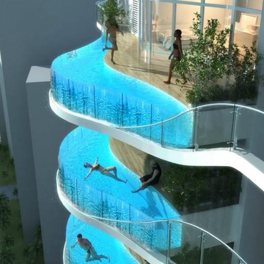 Aquaria Grande Towers, una piscina en cada balcón