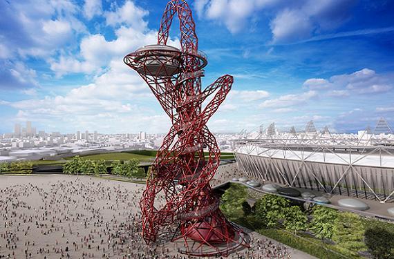 Torre Arcelormittal Orbit de Londres para los Juegos Olímpicos 2012