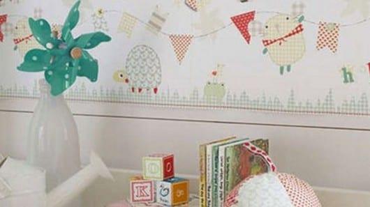 Una habitación de bebé rural