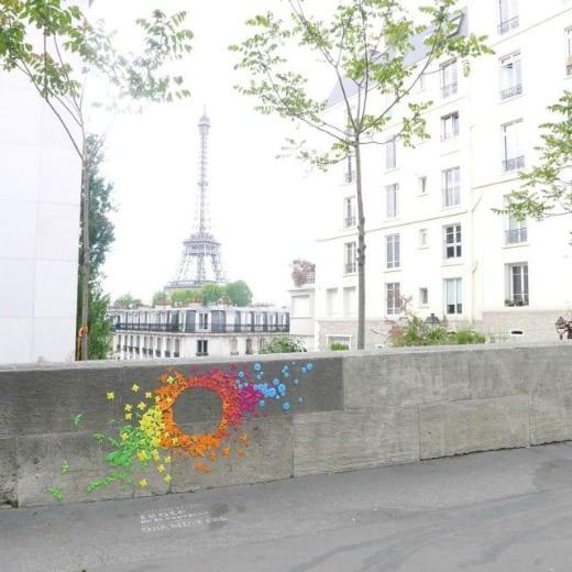 origami street art paris mademoiselle maurice