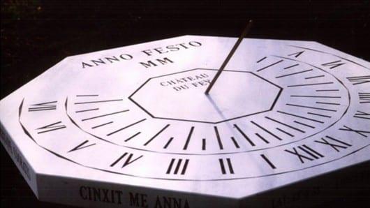 reloj sol hexagonal