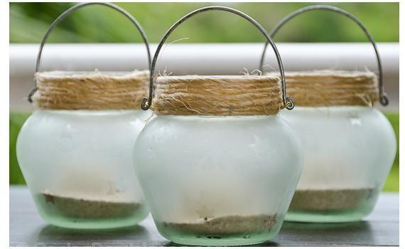 Decorar la cocina con frascos con arena