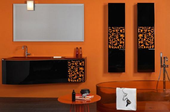 Colores para el cuarto de baño: la energía del naranja