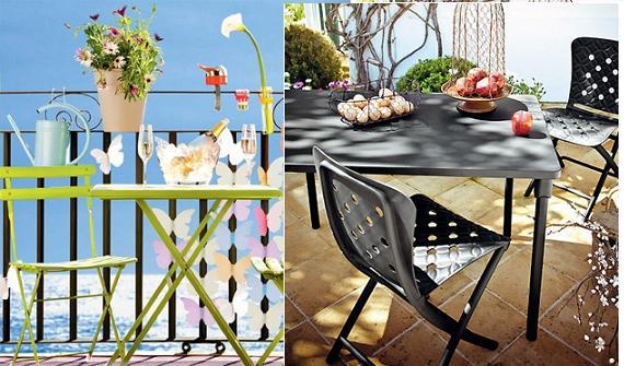 Muebles de exterior: balcones, terrazas y jardines