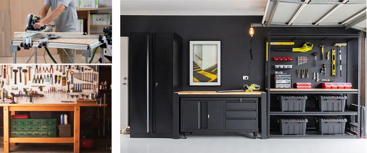 Los muebles pueden decorar un garaje