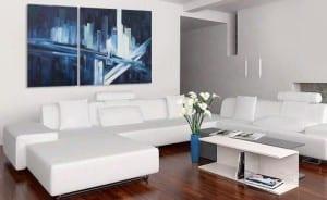 La disposición de los cuadros en el hogar