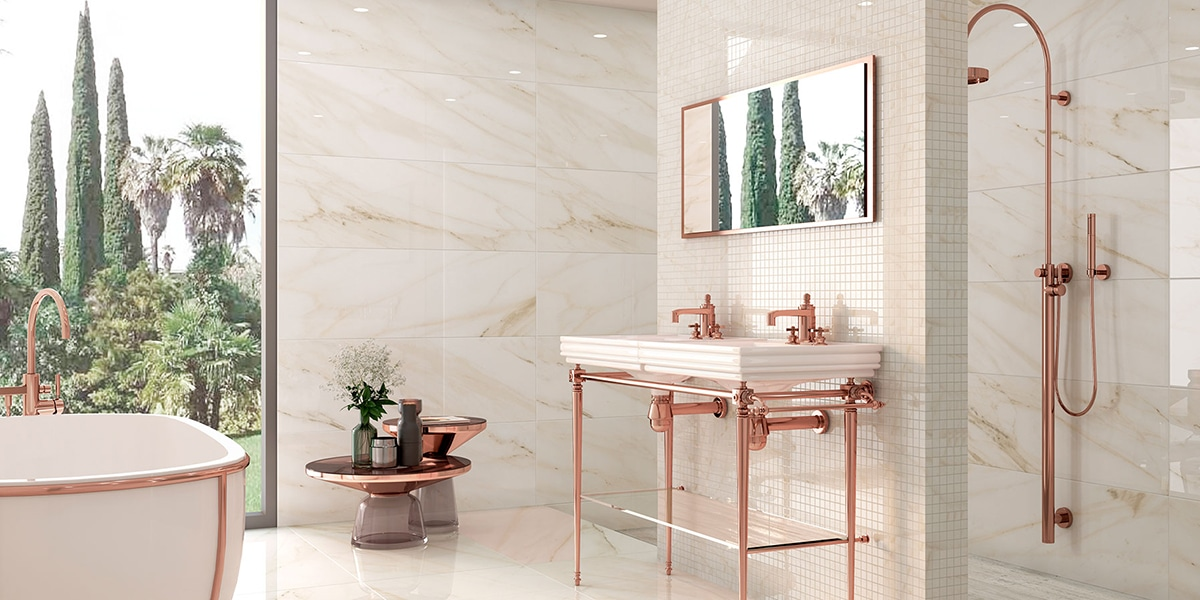 Baño con mármol