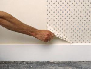 Quitar papel pintado de pared