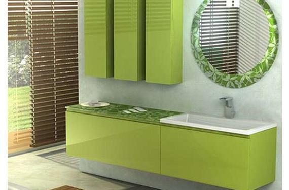 Colores para el cuarto de baño: la frescura del verde