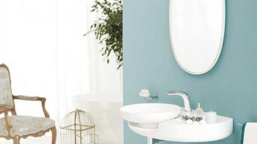 La elegancia redondeada en el baño