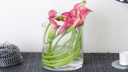 Utiliza las flores para embellecer la decoración