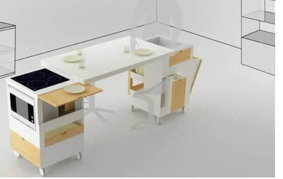 Ahorrar espacio dos soluciones cocina y mesa - Muebles para ahorrar espacio ...